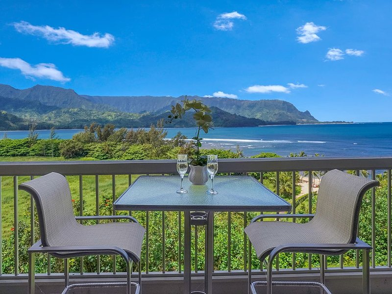 Spectacular Views of Hanalei Bay and Bali Hai 3 bedroom, vacation rental in Wainiha