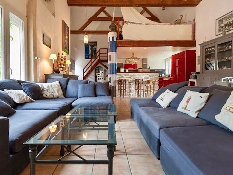 Maison spacieuse de caractère  bord de mer (voir vidéo par drone dans photos), location de vacances à Brignogan-Plage
