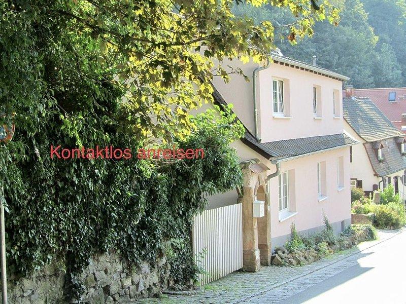 Romantisches Künstlerhaus direkt am Staatspark Fürstenlager – semesterbostad i Gernsheim