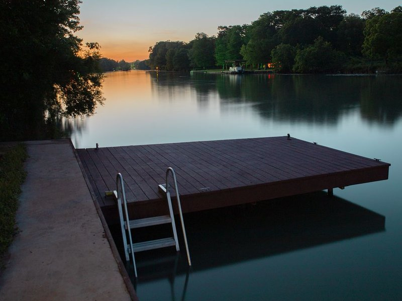 Take advantage of the magnificant sunset on your private dock