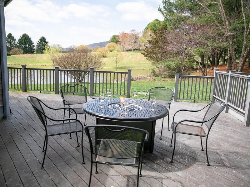 Gas fire pit and we provide the propane