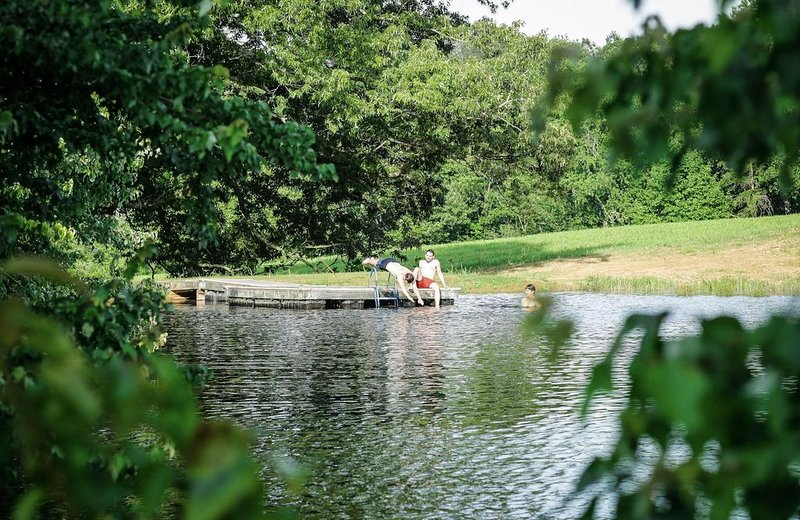 Summer fun on just one of the farm's many ponds