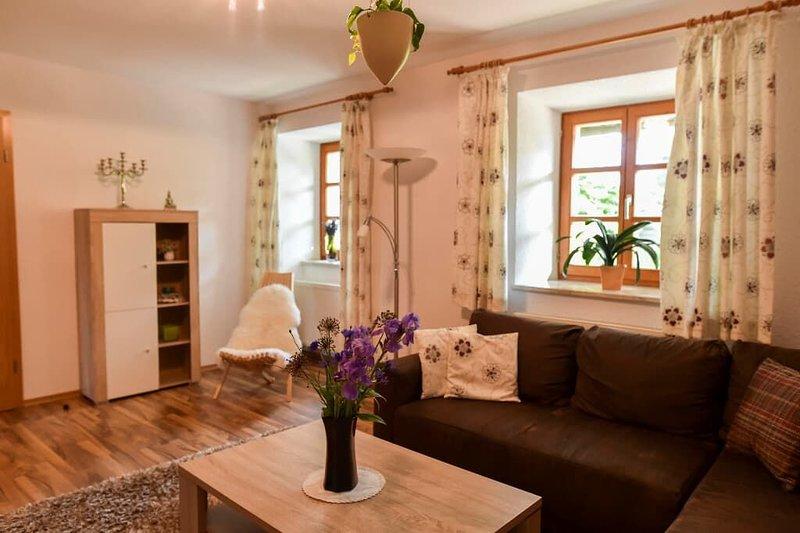 Neurenovierte FeWo (70qm) mit Terrasse und 2 Schlafzimmern, location de vacances à Falkenstein