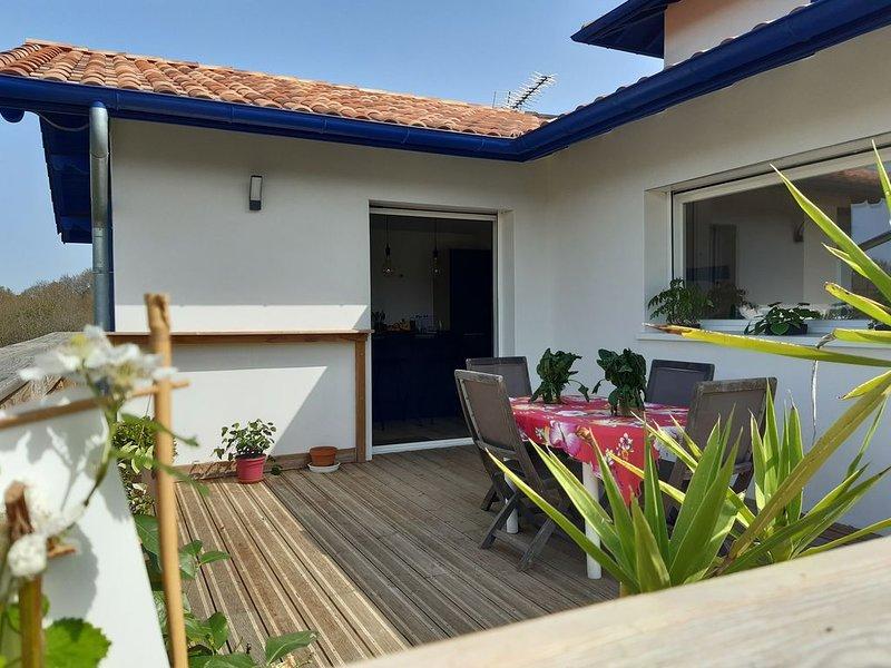 Située entre Océan et Montagnes, confort, calme, espace, lumière sont mes atouts, holiday rental in Villefranque
