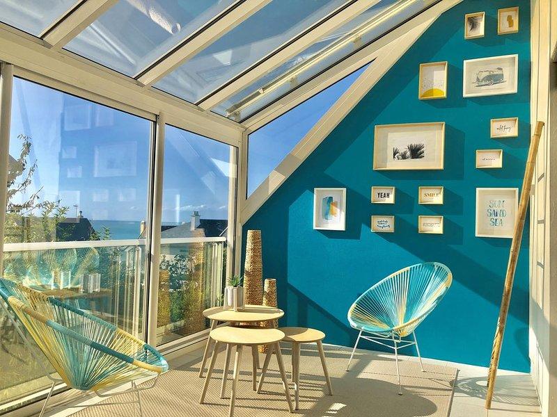 [NOUVEAU] Maison confortable avec vue sur mer à 100 mètres de la plage, alquiler vacacional en Longueville