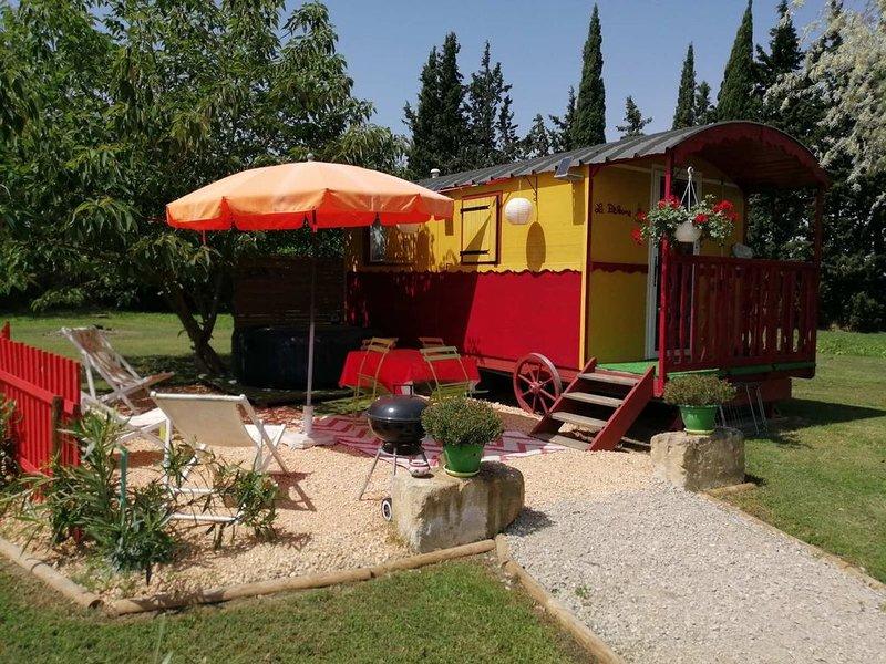Roulotte La Pitchoune, location de vacances à Tarascon