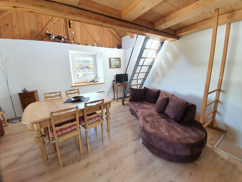 Maison avec terrasse et couvert à voiture, vacation rental in Moutier
