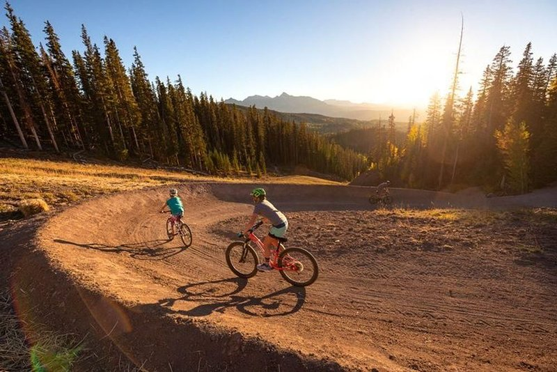 Telluride's bike park offers mountain biking challenges for all interests and levels.