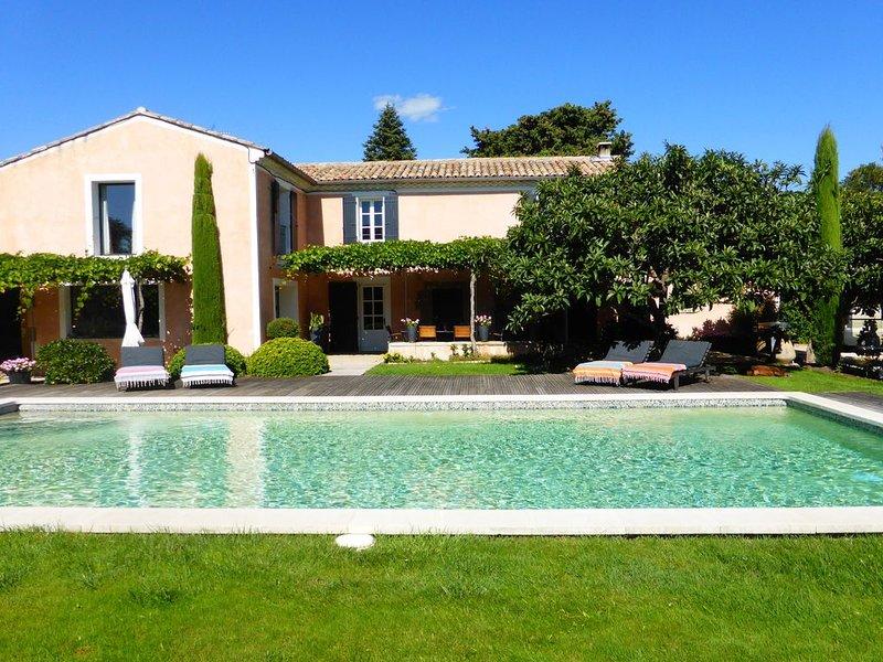 MAS DE VILLAGE AVEC PISCINE 12X6 ET SON JACUZZI. BELLES PRESTATIONS, holiday rental in Aubignan