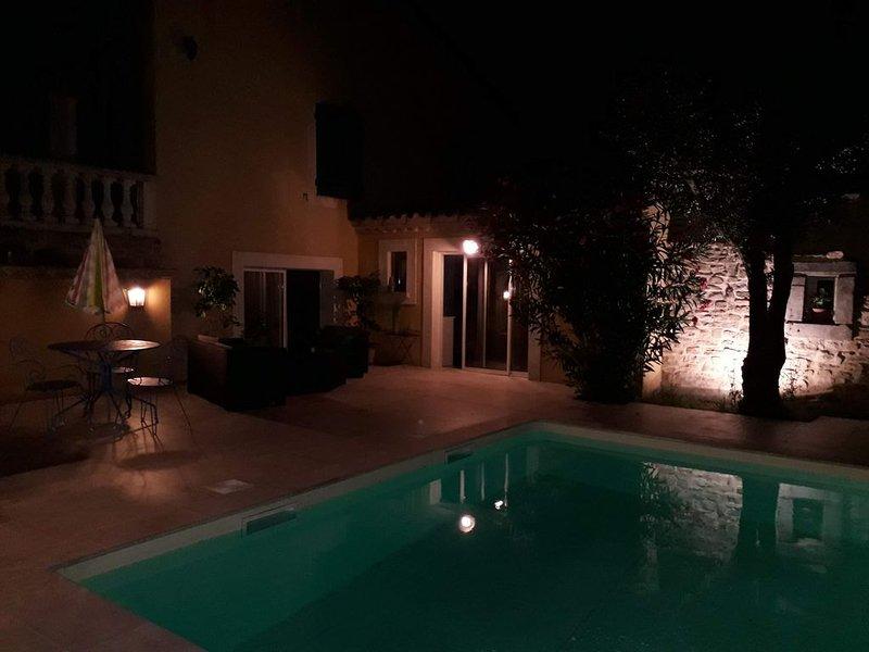 superbe Appartement de luxe dans villa sur 3500 m2 de terrain, trés arboré, location de vacances à Lasserre-de-Prouille