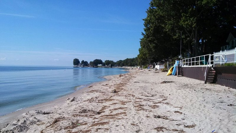 Lake House Oasis. On private Lake Erie beach. Family fun! – semesterbostad i Amherstburg