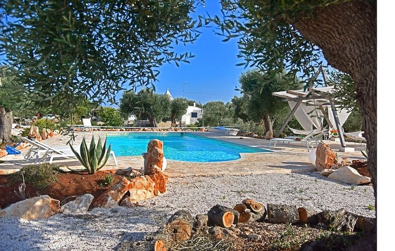 Magnificent Trulli with salt water pool set in ancient Olive groves, vacation rental in Chianchizzo I