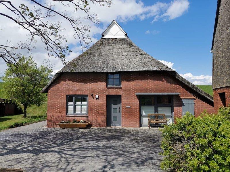 Ferienhaus  'Weserdeich' mit Sauna und Kaminofen, location de vacances à Stadland