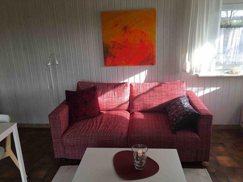 Skandinavische Ferienhütte auf dem Ostsee-Hof Musnest, holiday rental in Ulsnis