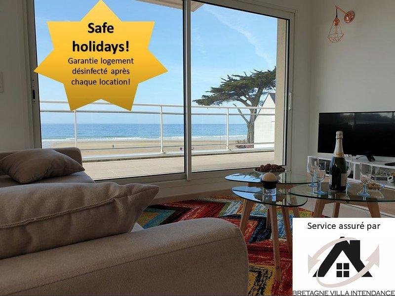 Glaz-Zen 4* : am Strand, Panoramablick auf das Meer, vacation rental in Erquy