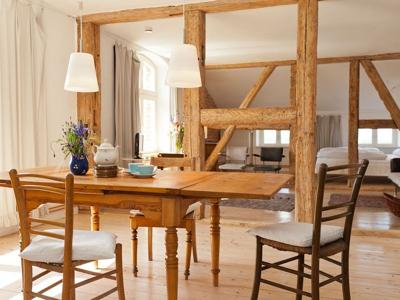 Apartment Bertha auf Gut Pohnstorf, holiday rental in Boddin