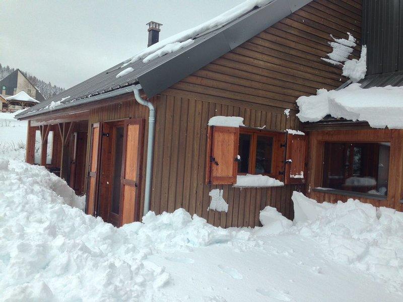 Chalet camp de base pour tribu, sportif, wifi, 5 ch, location de vacances à Le Falgoux