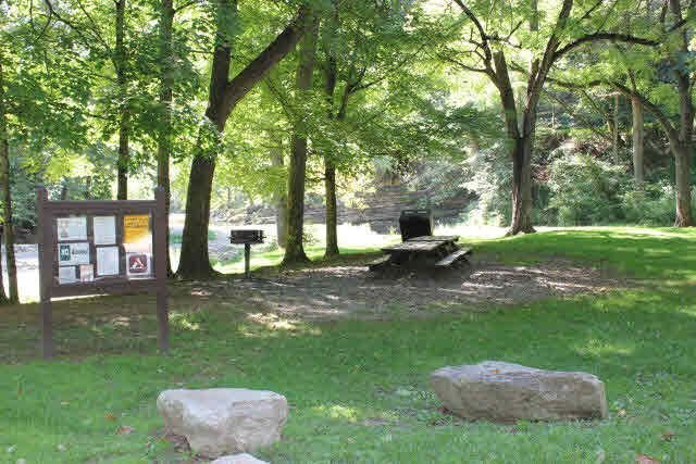 A nearby picnic area at the German River