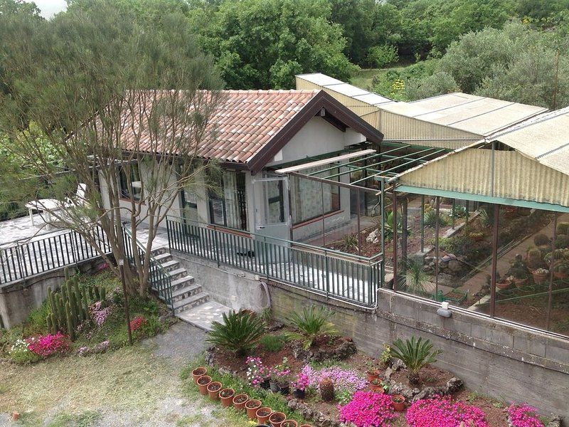 Little House with Cactus Garden, on Mount Etna, Sicily, holiday rental in Passopisciaro