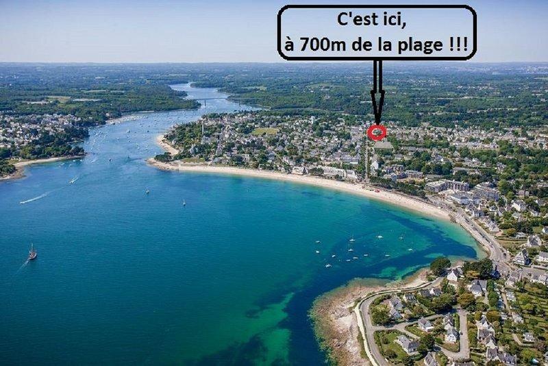 Bénodet, plage et commerces à pied, maison avec jardin, location de vacances à Sainte-Marine