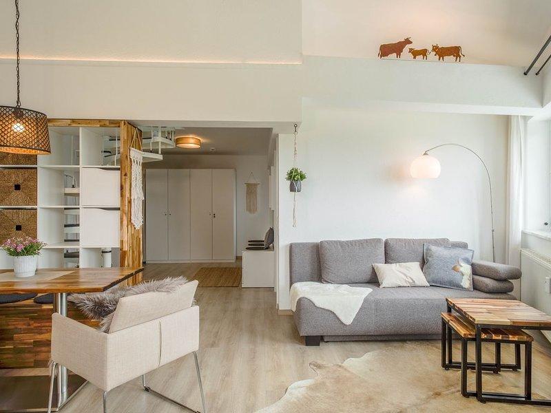 Charmantes Apartment Lindenalpe mit Bergblick, WLAN und Terrasse; Parkplätze vor, location de vacances à Isny im Allgaeu