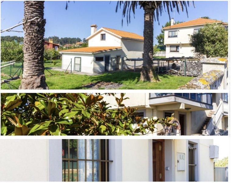Mera , casa con gran jardín y a 300m de las playas, holiday rental in Cabreira