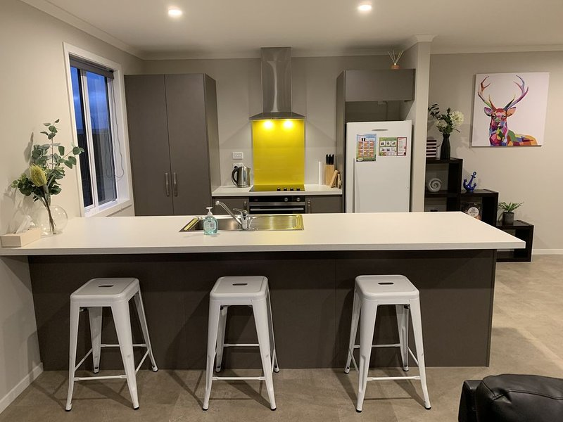 Cosy and warm brand new home a stone's throw from the lake and easy walk to town, location de vacances à Fiordland National Park