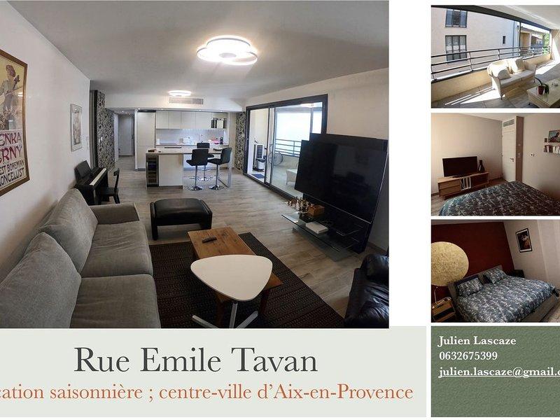 Grand appartement au centre d'Aix-en-Provence ; parking sous-terrain sécurisé, vacation rental in Aix-en-Provence