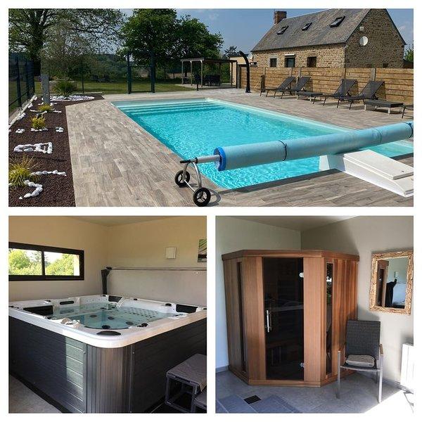 La Miltière, Maison avec piscine, spa et sauna dans la Baie du Mt St Michel, location de vacances à La Chapelle-Urée