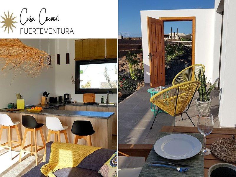Casa Cocoon : bohème, contemporain, tout confort à 8 mn des plages, location de vacances à Lajares