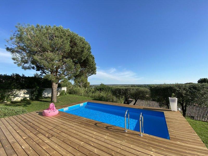Jolie Villa avec vue exceptionnelle entre Béziers et Agde ( Hérault), vacation rental in Portiragnes