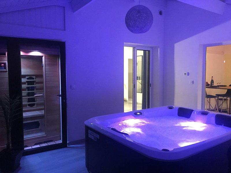 Superbe appartement avec spa et sauna privatifs, holiday rental in Vitrac