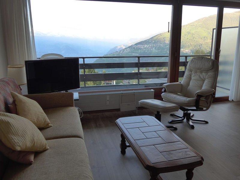 Appartement 1 1/2 pièces, vue splendide, 2min à pieds du télécabine., holiday rental in Haute-Nendaz