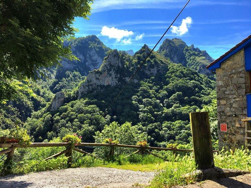 Impresionante Jacuzzi en Desfiladero Natural en los Picos de Europa, holiday rental in Santa Marina de Valdeon
