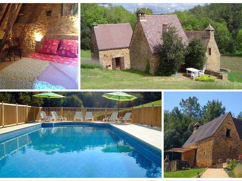 Nouveau: Domaine composé de 3 cottages avec piscine privée aux portes de SARLAT, holiday rental in Sainte Nathalene