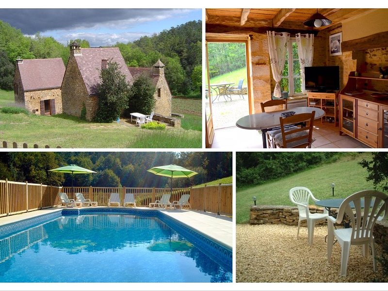 Authentique petite maison périgourdine avec piscine au sel aux portes de SARLAT, holiday rental in Sainte Nathalene
