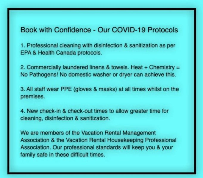 As vacation management professionals, we know what is needed to keep you and your loved ones safe during Covid-19.