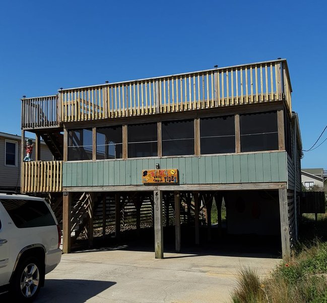 Family & Pet Friendly Cottage, Beach View, Screen Porch, vakantiewoning in Kitty Hawk