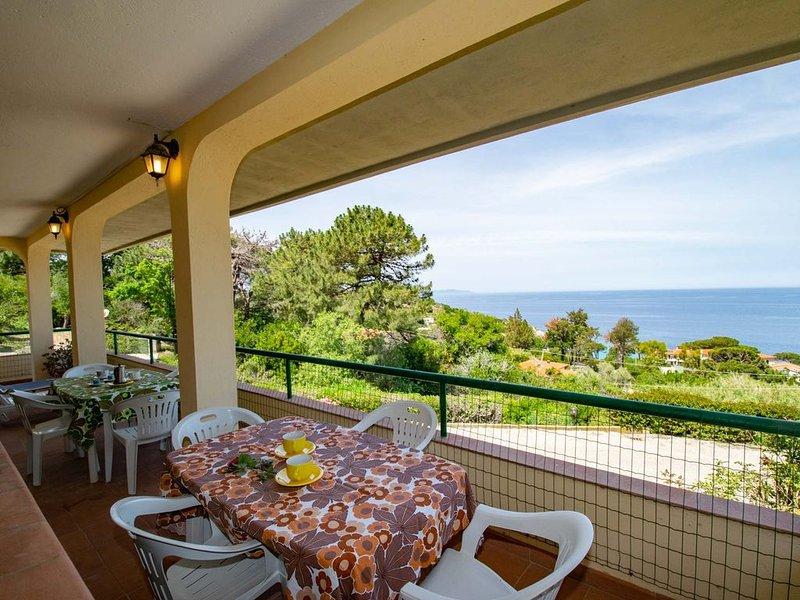 Appartamento con terrazza vista mare, holiday rental in Marciana