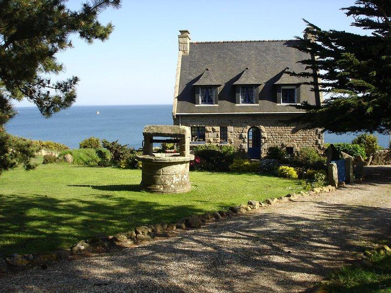 Un coin de paradis Breton, vue splendide sur l'océan avec grand jardin arboré., alquiler de vacaciones en Finistere