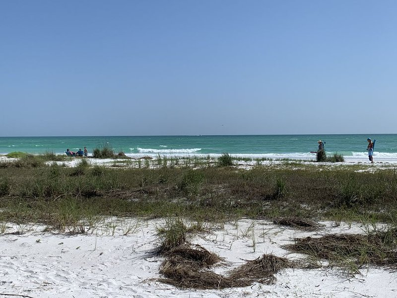 Roomy Beach Cottage: 4 bd/3 ba: 100 ft to beach path; priv pool/BBQ/walk to town, holiday rental in Sarasota