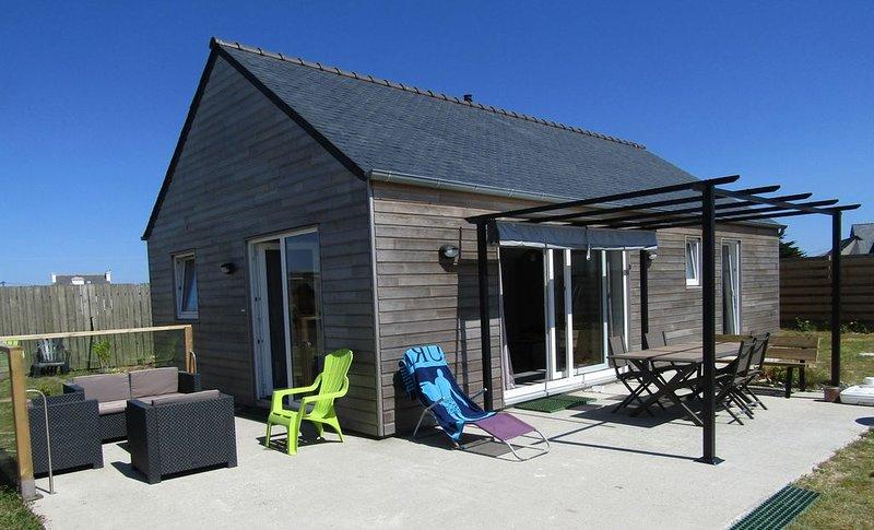 Maison de vacances neuve -  'le Klozig'- à 240 mètres des plages!, alquiler de vacaciones en Plouneour-Trez