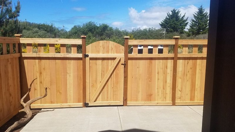 Private fenced in yard