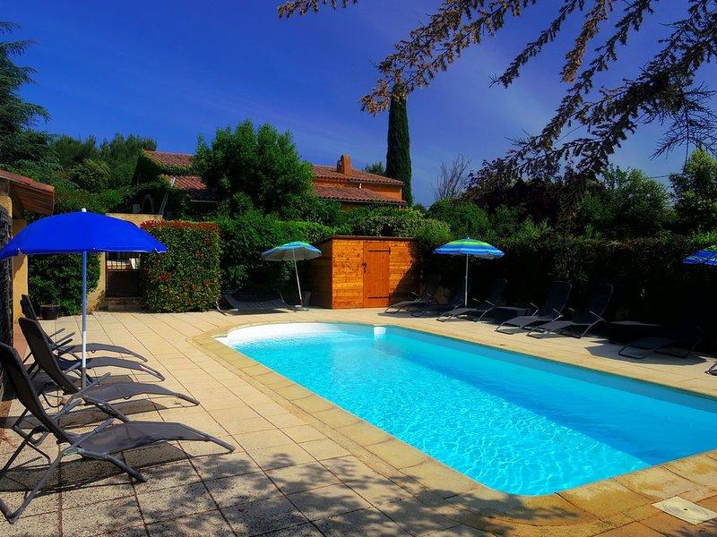 maison sur 4 Ha au calme avec piscine chauffée a Gargas, alquiler de vacaciones en Apt