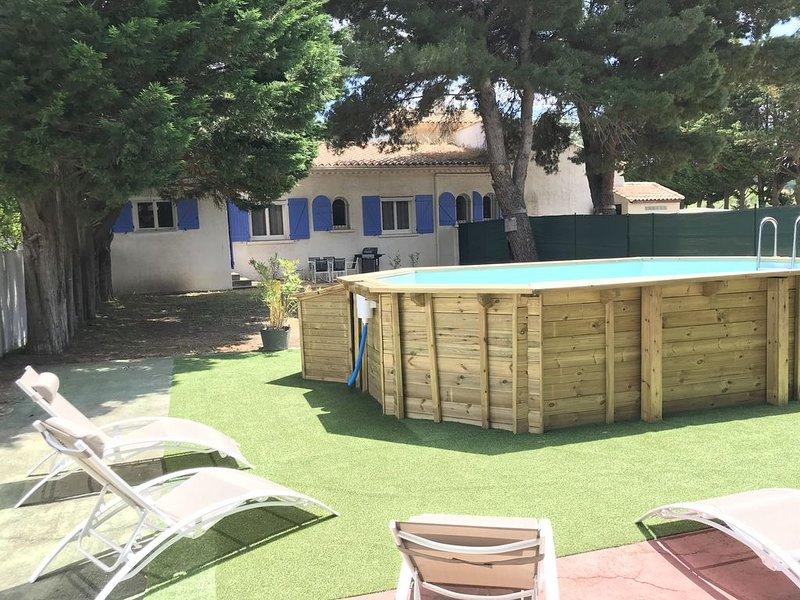 Gîte La Musardière 6 p. avec piscine et jardin privatifs, alquiler vacacional en Salles d'Aude