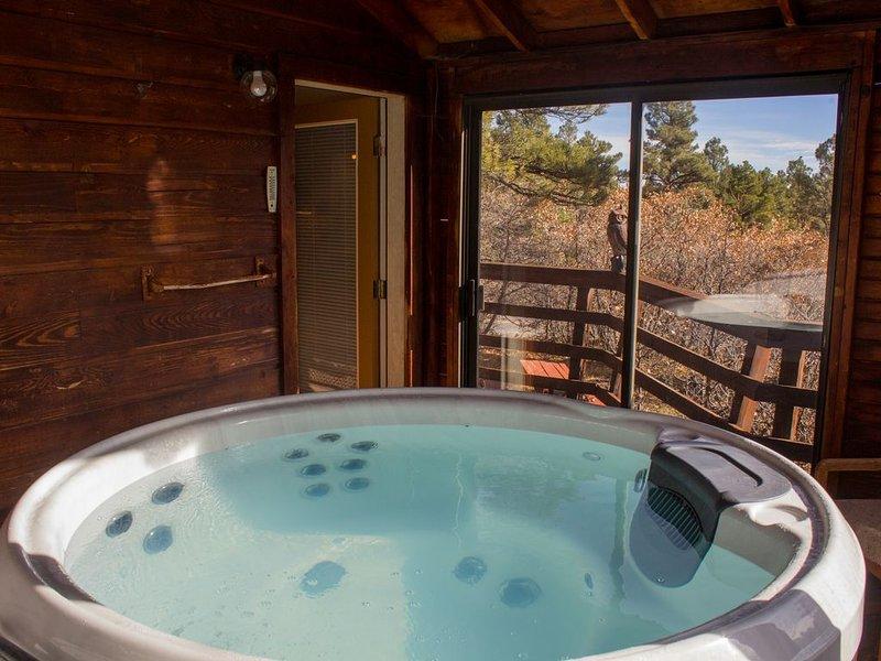 Circular fireplace, single car garage, views, close to all amenities Pagosa Lake, holiday rental in Chimney Rock