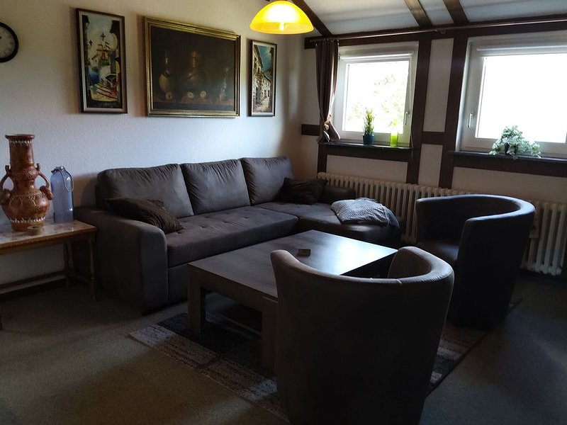 Large apartment in Wildemann in the Upper Harz, at the edge of the forest, holiday rental in Bad Grund