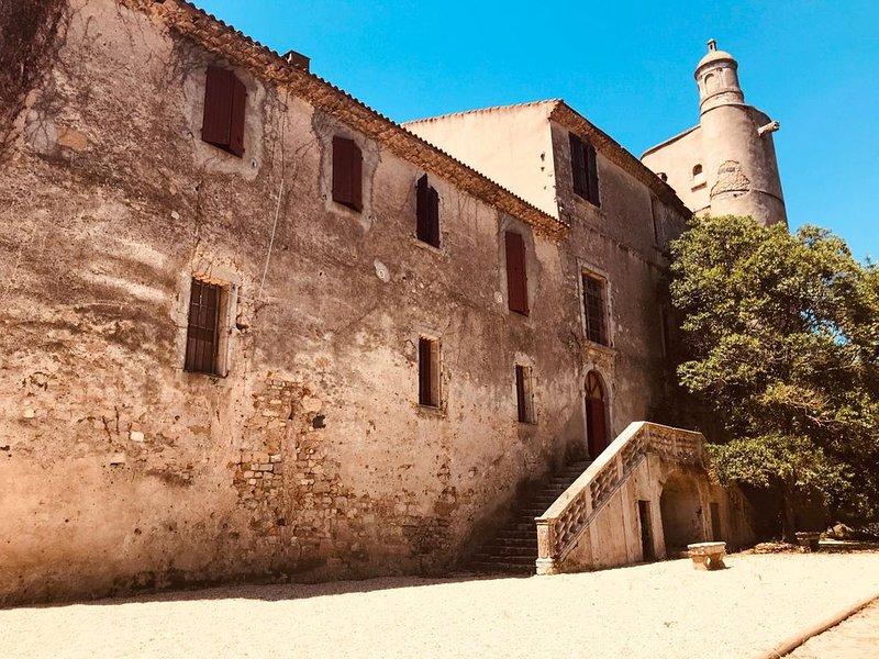Chateau XII/XVIIème siècle, 8 couchages, 5km de la plage, vacation rental in Villeneuve les Beziers