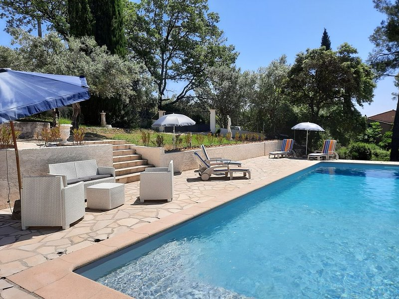 Villa ***** 4 stars - sleeps 6 - with superb pool  and parking for 4 cars, holiday rental in Trans-en-Provence