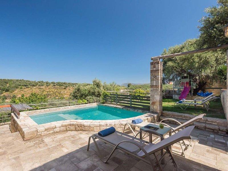 Rainbow Villas - Villa Cyan IV, On A Quiet Hill Slope, holiday rental in Galatas